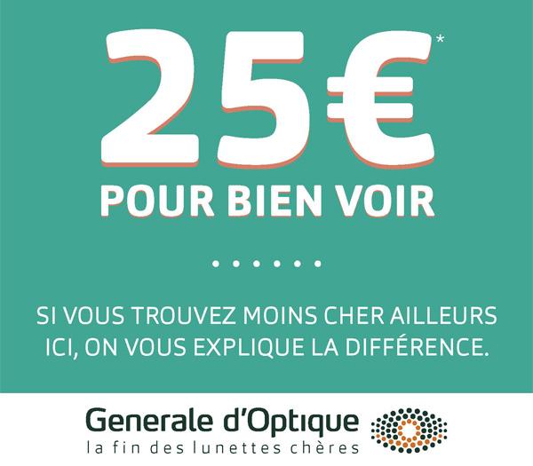 mignonne grande remise de 2019 100% de qualité Générale d'Optique | 25 euros pour bien voir | Centre ...